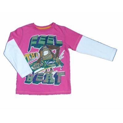 Pink majmos póló (116)