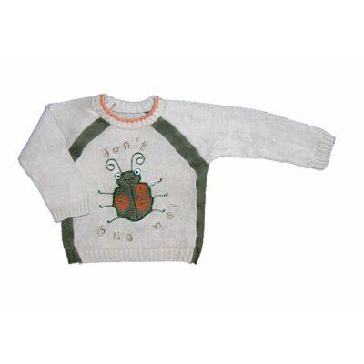 Drapp-zöld bogaras pulcsi (74