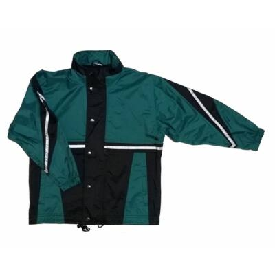 Zöld-fekete átmeneti kabát (140)
