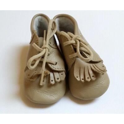 Drapp bőrcipő (10,5cm)