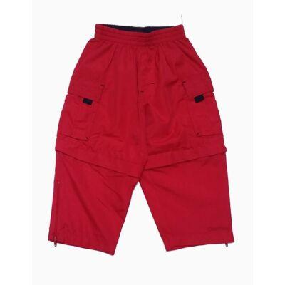 Piros lezippelhető szárú nadrág (92)