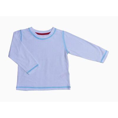 Fehér póló kék varrással (92)