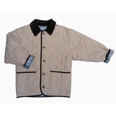 Drapp-kockás kifordítható átmeneti kabát (140)