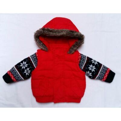 Piros kötött ujjas kabát (62)