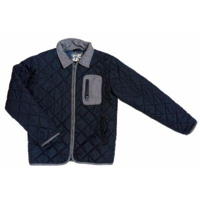 Kék-szürke steppelt átmeneti kabát (152)