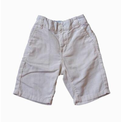 Fehér lenes short (104)