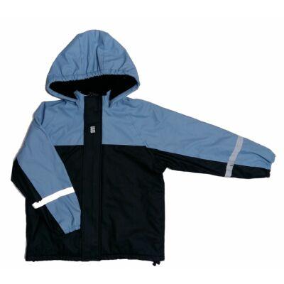 Fekete -kék átmeneti kabát (128)