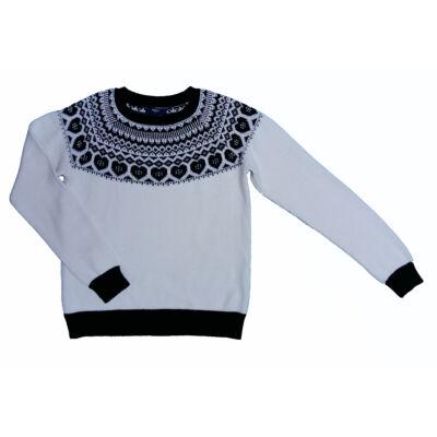 Fekete-fehér mintás pulcsi (152)