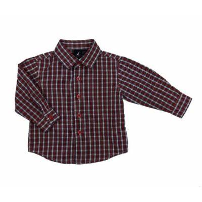 Kék-piros kockás ing (80)