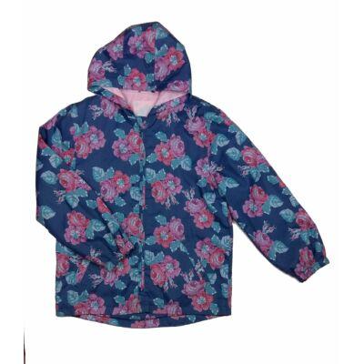Kék rózsás átmeneti dzseki (140)