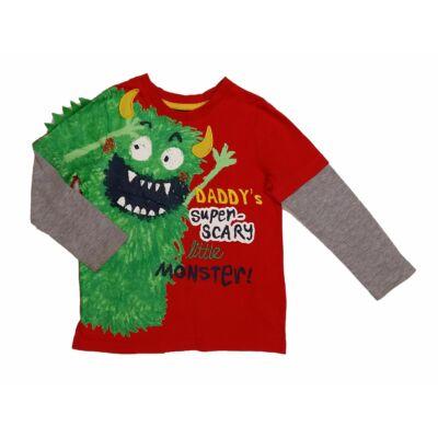 Piros szörnyes póló (104)