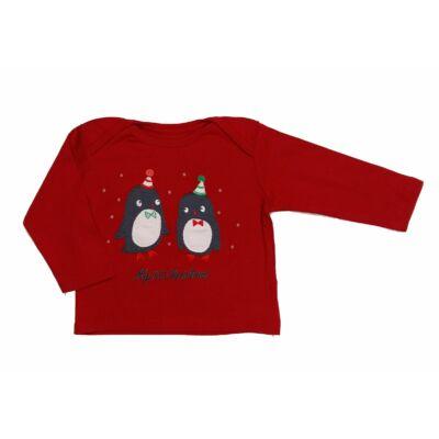 Piros pingvines póló (74)