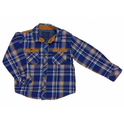 Kék-mustár kockás ing (98)