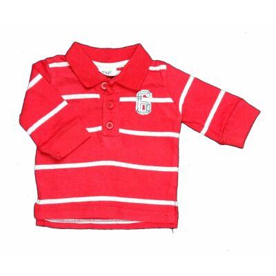 Piros-szürke galléros póló (56)