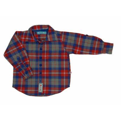 Piros-kék kockás ing (74)