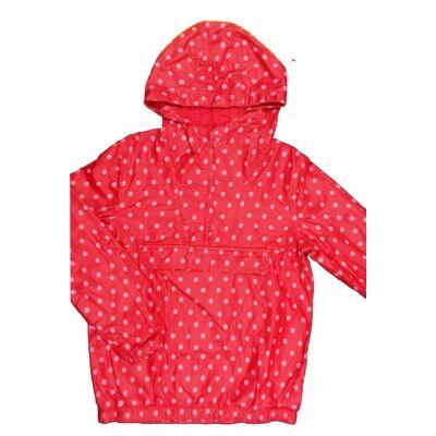 Piros-pink pöttyös átmeneti dzseki (134)