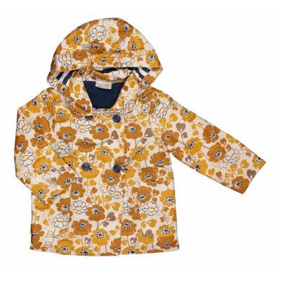 Mustár virágos átmeneti kabát (92)