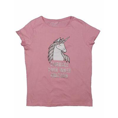 Rózsaszín Unicornis póló (152)