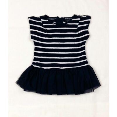 Kék csíkos tüllszoknyás ruha (80)