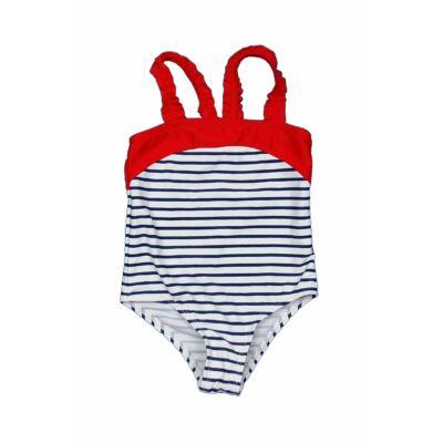 Kék-piros csíkos fürdőruha (92)