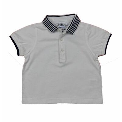 Fehér csíkos galléros póló (86)