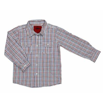 Kék-piros kockás ing (104)