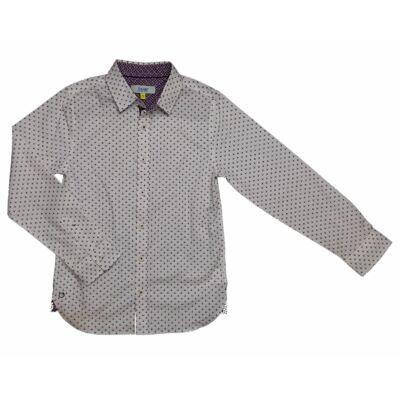 Bordó mintás fehér ing (140)