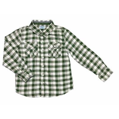 Zöld kockás flanel ing (110)
