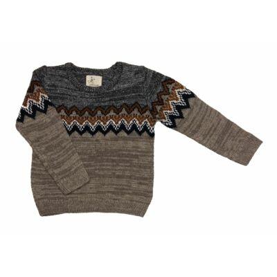Szürke-barna mintás pulcsi (110)