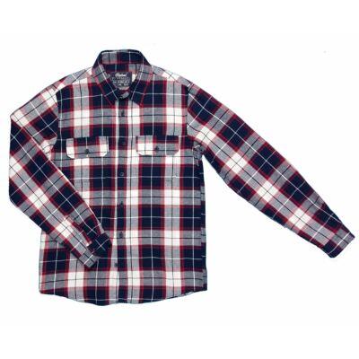 Bordó-kék kockás ing (158)