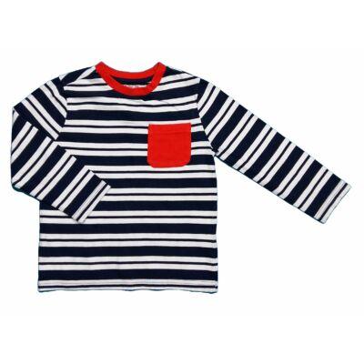 Fekete-fehér-piros póló (110)