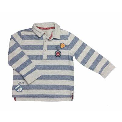 Kék-szürke galléros póló (98)