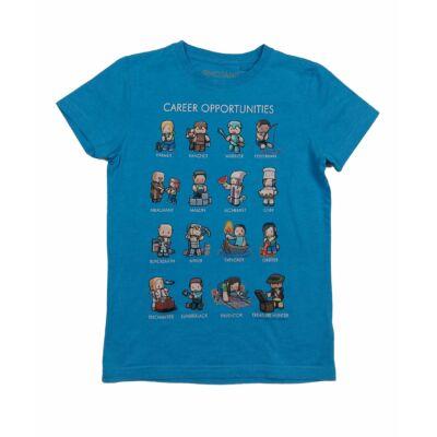 Kék Minecraft póló (128)