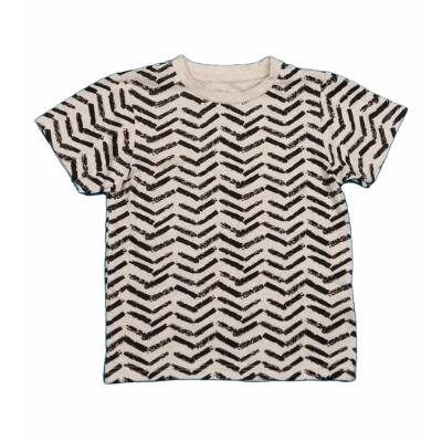 Bézs-fekete mintás póló (116)
