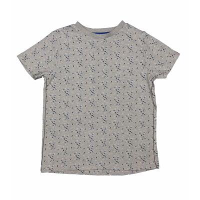 Szürke-kék mintás póló (116)