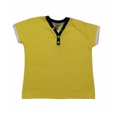 Sárga gombos póló (122)