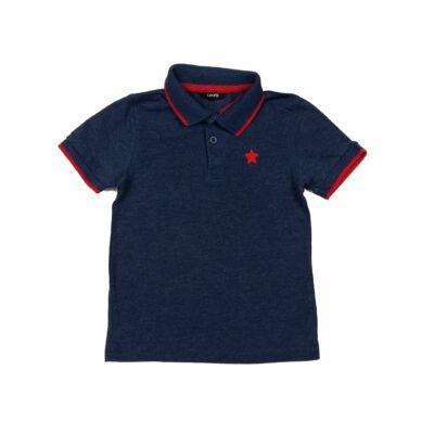 Kék-piros galléros póló (92)