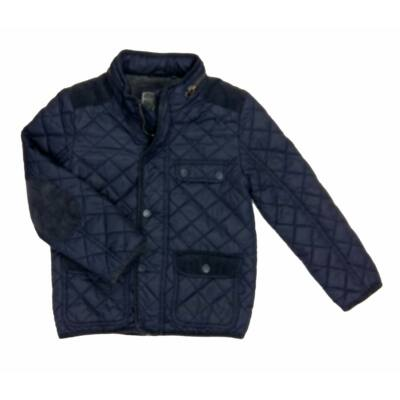 Sötétkék steppelt átmeneti kabát (110)