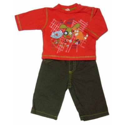 Állatos póló zöld béléses nadrág (62)