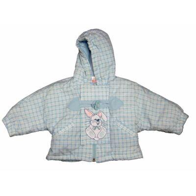 Kék kockás nyuszis kabát (62)