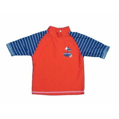 PIros-kék hajós úszófelső (104)