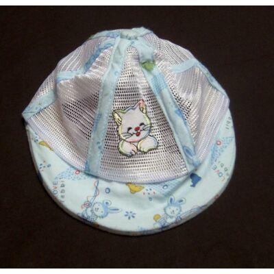 Kék cicás sildes kalap (92)