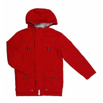 Piros-szürke átmeneti kabát (146)
