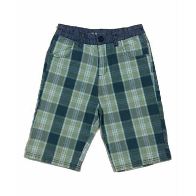 Zöld kockás short (134)