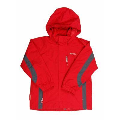 Piros-szürke átmeneti kabát (140)