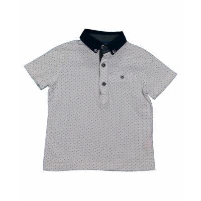 Kék mintás galléros póló (86)