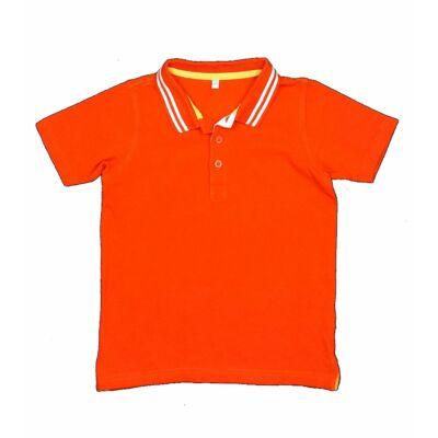 Narancs galléros póló (116)