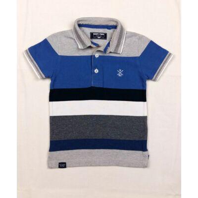 Kék szürke galléros póló (92)