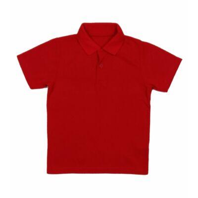 Piros galléros póló (110)