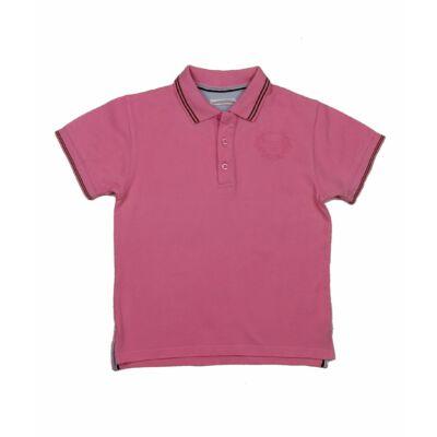 Púderes rózsaszín galléros póló (128)